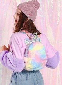 کوله پشمی یونیکورن رنگی
