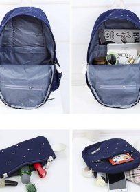کوله ۳ تیکه شامل کوله ، کیف دوشی ،جامدادی