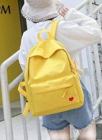 کوله پشتی زرد قلبی